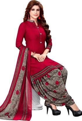 RENSILAFAB Crepe Printed Salwar Suit Material