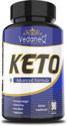 VedaneQ Keto Diet Weight loss 90 Capsules Slimming Supplement