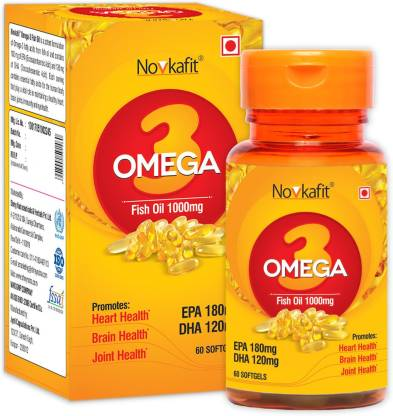 Novkafit Omega-3 Fish Oil 1000 Mg – 60 Softgel Capsules