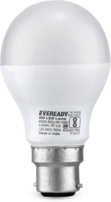EVEREADY 9 W Round B22 D LED Bulb