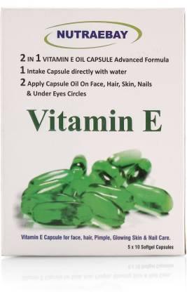 NUTRAEBAY VITAMIN E 400 capsules 400 I U (Natural Source) for Skin,