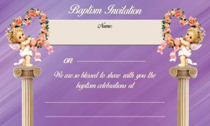 Christian Invitation Card(Multi - Text, Pack of 32)
