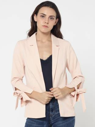 Only Solid Single Breasted Casual Women Blazer
