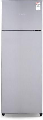 Bosch 288 L Frost Free Double Door 3 Star Refrigerator (Silver, KDN30VN30I)