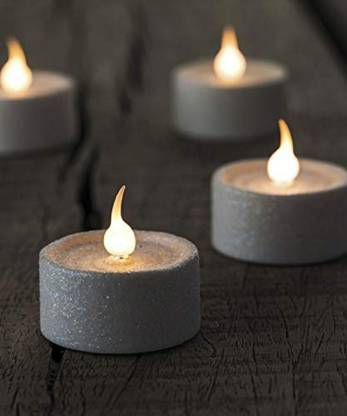 Dishankart Pack Of 18 PC Glitter Votive LED Candles Candle
