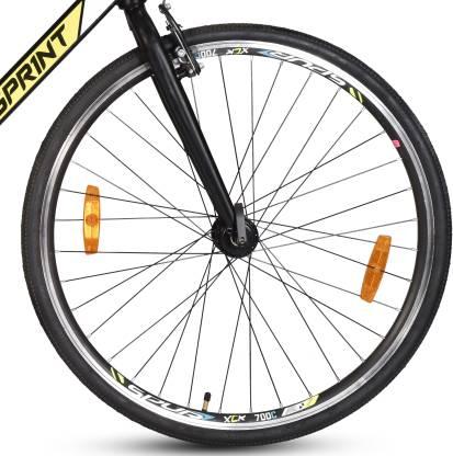 Hero Sapphire 27T 700C T Road Cycle Single Speed, Black, Yellow
