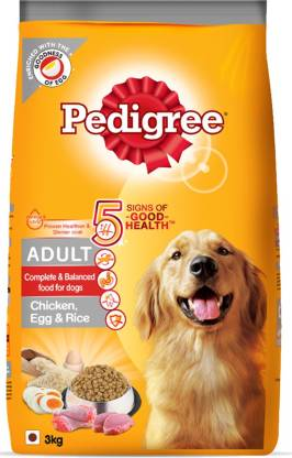 Pedigree High Protein Variant Rice, Egg, Chicken 3 kg Dry Adult Dog Food