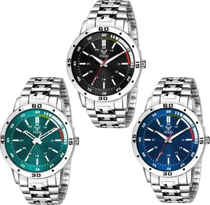 Fogg 7007 3 stylish different coloured Watch combo Analog Watch - For Boys