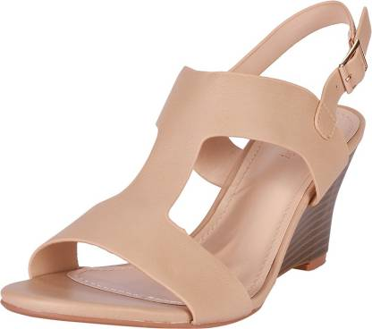 Allen Solly Women Beige Wedges