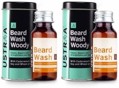Ustraa Beard Wash (Woody) - Set of 2