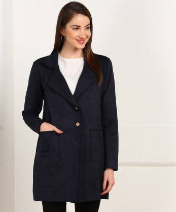 AND Solid Single Breasted Casual Women Blazer