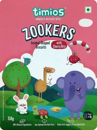 Timios Zookers Animal Shaped Biscuits