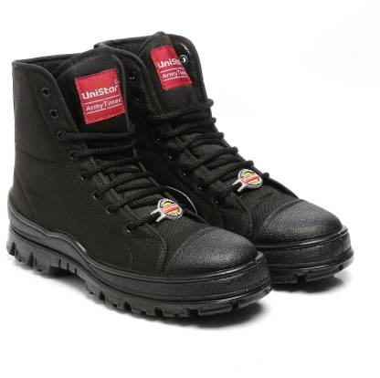 Unistar Jungle Boots- Oil Stain & Water Resistant- Extra Cushion InnerSole -Light Weight Trekking Boots For Men