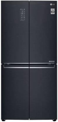 LG 594 L Frost Free Side by Side Inverter Technology Star Refrigerator(Matte Black, GC-B22FTQPL)