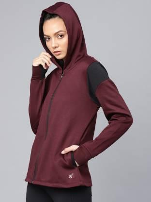 HRX by Hrithik Roshan Full Sleeve Solid Women Sweatshirt