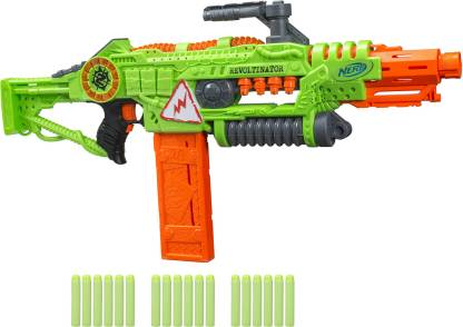 Nerf Revoltinator Zombie Strike Blaster, Motorized Lights Sounds & 18 Darts For Kids, Teens and Adults Guns & Darts