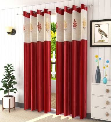 Homefab India 213.5 cm (7 ft) Polyester Door Curtain (Pack Of 2)