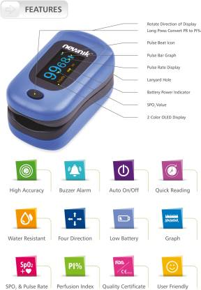 newnik PX701 Audio-Visual Fingertip Pulse Oximeter