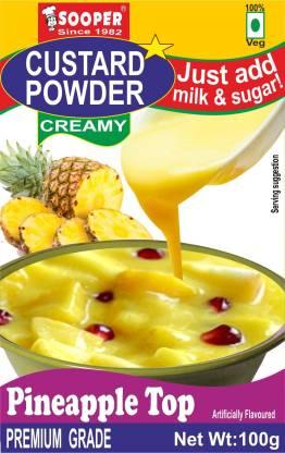 SOOPER CUSTARD POWDER PINEAPPLE TOP 100g X 3 PACKS Custard Powder
