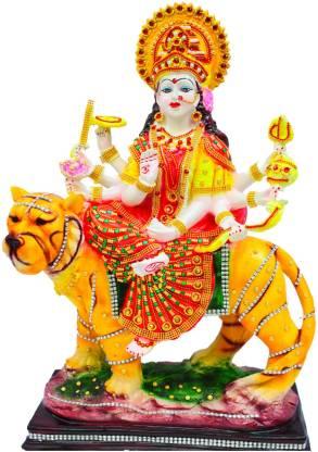 Tiptap Resin Maa Sherawali Navratri Pooja Maa Durga Devi Murti Decorative Showpiece 60 Cm Price In India Buy Tiptap Resin Maa Sherawali Navratri Pooja Maa Durga Devi Murti Decorative Showpiece