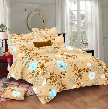 homezy 144 TC Cotton Double Abstract Bedsheet