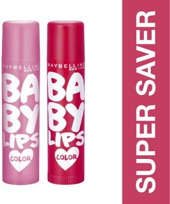 Maybelline Baby Lips Pink Lolita and Berry Crush  (Pack of: 2, 8 g) thumbnail