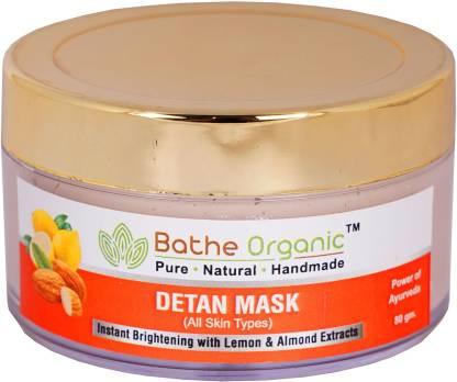 Bathe Organic De-Tan Tan Removal Face Mask For Men & Women- 80 gm