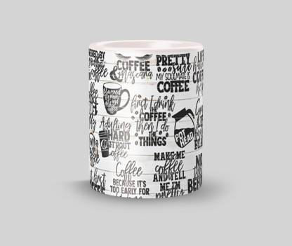 ECFAK Coffee:Doodle E0014 Ceramic Coffee Mug