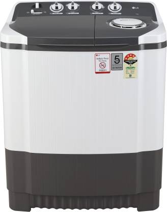 LG 7 kg 4 Star Semi Automatic Top Load Grey, White