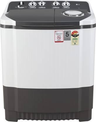 LG 7 kg 4 Star Semi Automatic Top Load Grey, White
