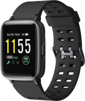 PLAY FIT SW75 Black Smartwatch  (Black Strap Regular)