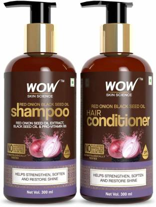 WOW SKIN SCIENCE Red Onion Black Seed Oil Shampoo+Conditioner