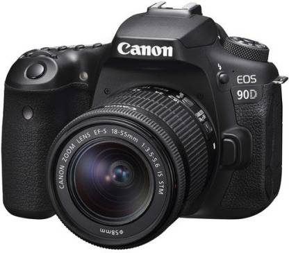 Canon EOS 90D DSLR Camera Body with Single Lens 18 - 55 mm IS STM