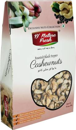 D NATURE FRESH Roasted Black Pepper Cashews 250g (Premium) Cashews