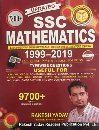 Rakesh Yadav SSC Mathematics 7300+( 1999- 2019)