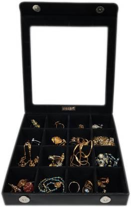Essart aux Leather Makeup and Jewellery, Earring Box, Cufflinks Box, Vanity Multi Purpose Jewellery Box, Vanity Box, Cufflinks Organiser Box Vanity Box