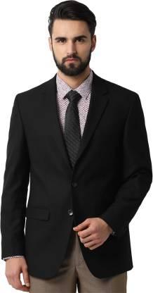 Peter England Self Design Single Breasted Formal Men Blazer