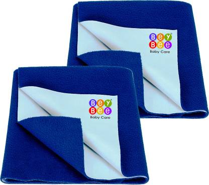 BeyBee Cotton Baby Bed Protecting Mat(Royal Blue, Small)