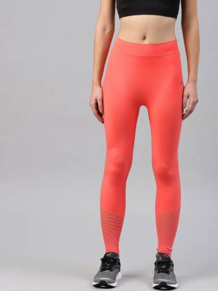 Solid Women Orange Tights