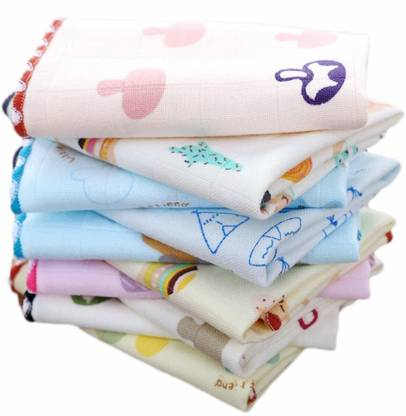 "supermarche Luxury Women Cotton Face Towels hankies Multi color [""Multicolor""] Handkerchief"