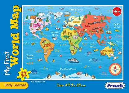 Frank My First World Map Puzzle