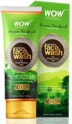 WOW SKIN SCIENCE Rainforest Collection - Mineral  with Crude Volcanic Clay Face Wash