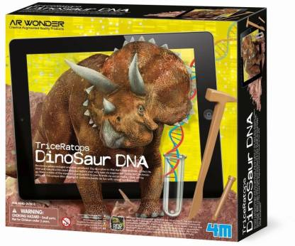 4M Triceratops Augmented Reality Dinosaur DNA