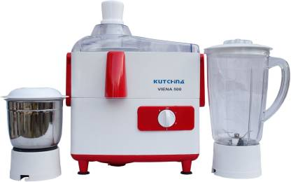 Kutchina FGSAMG750006 VIENA 500 500 Juicer Mixer Grinder (2 Jars, White, Red)