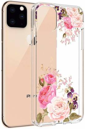 vonzee Back Cover for Iphone 11 Pro Rose Flower 3D Case For Girls & Women Peony Flower