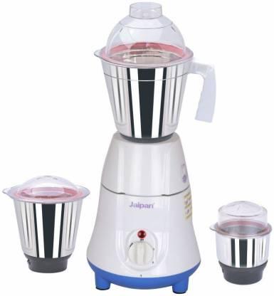 Jaipan 550 W Mixer Grinder Kitchen Gold 550 Mixer Grinder (3 Jars, White)