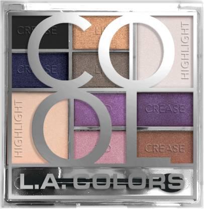 L.A. COLORS 10 Color Eyeshadow Palette- 20 g