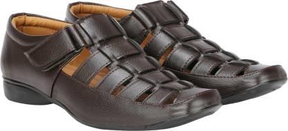Kraasa Men Brown Sandals