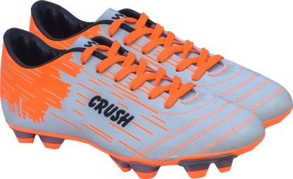 Gowin By Triumph Crush Silver/Orange Football Shoes For Men