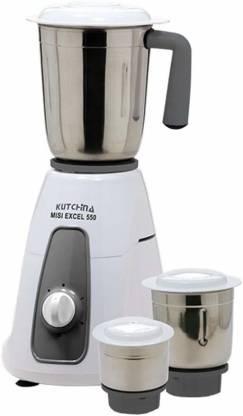 Kutchina Mixer Grinder Excel 550 230 Mixer Grinder (3 Jars, White)